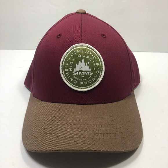 Simms Other - Simms Malbec Burgundy Brown Snapback Hat